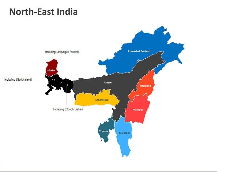 Northeast India Including Gorkhaland and Cooch Behar