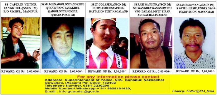 NIA announces cash rewards for Tirap massacre NSCN IM accused MLA contestant under NIA radar 696x306 1