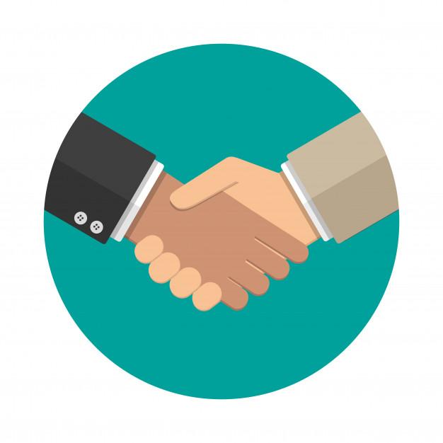 handshake icon flat style 169241 482