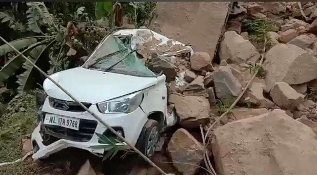 rockslide in Nagaland gate