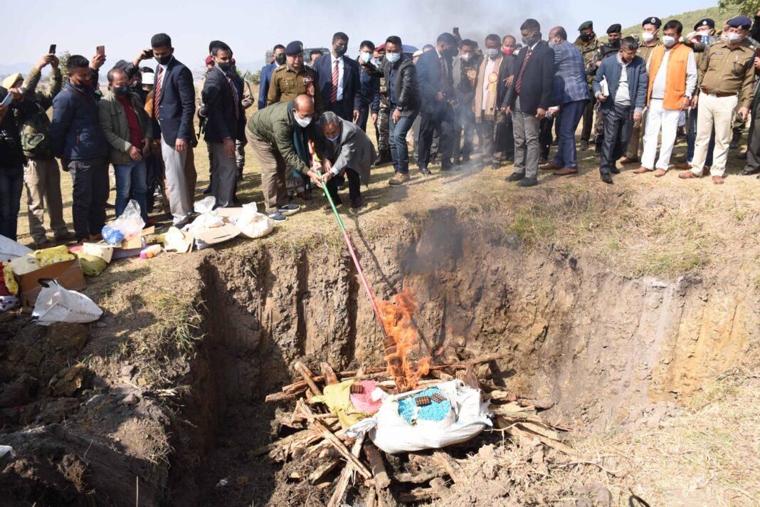 CM Biren Drug torching