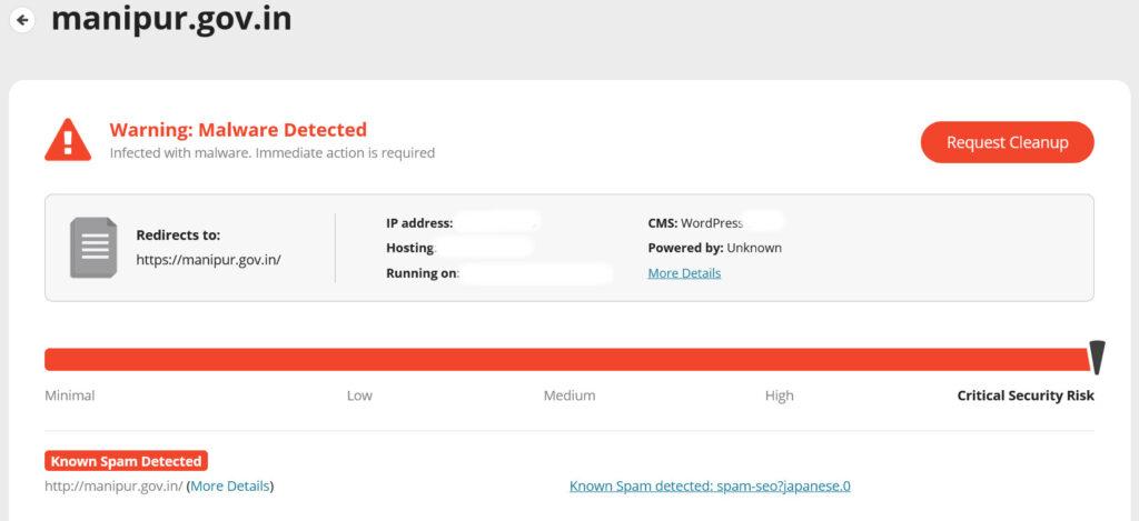 Manipur Govt website hacked