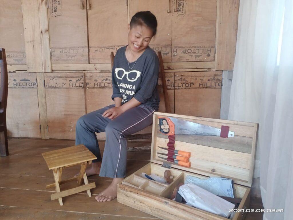 Penmila Tangkhul woman carpenter