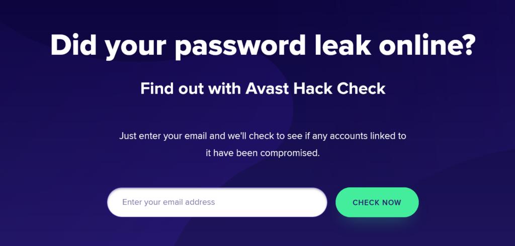 Avast Hack Check